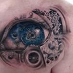Steampunk Tattoos und mechanische Kleinteile